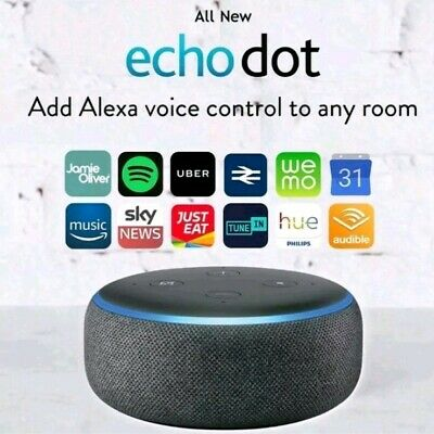 Amazon Echo Dot 3rd Generation Smart speaker With Alexa - Charcoal Black 1011