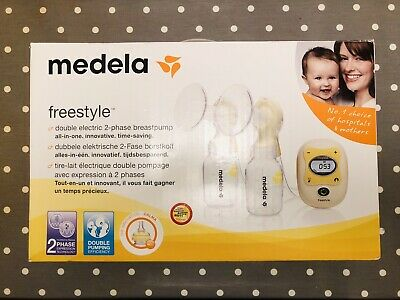 Medela Freestyle double electric breast pump,extras,battery,hands free,RRP £329