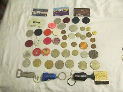 Huge Lot Of  Real Casino Chips;Paulson,Chipco;Free Play ,Casino Tokens; Lot # 11