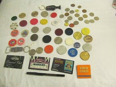 Huge Lot Of  Real Casino Chips;Paulson,Chipco;Free Play Casino Tokens,Lot  # 4