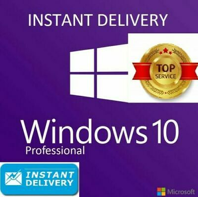 Microsoft Windows 10 Pro Professional Key 32/64 Bit  USA/EU 🔥  Instant 7s