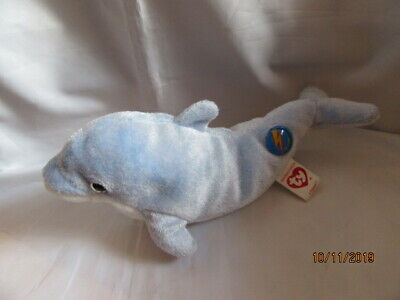 MINT NO HANG TAG or CODE TY CLIPPER the DOLPHIN 2.0 BEANIE BABY