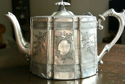 Fabulous Victorian  EPNS Silver Plated Teapot - great design in need of some TLC