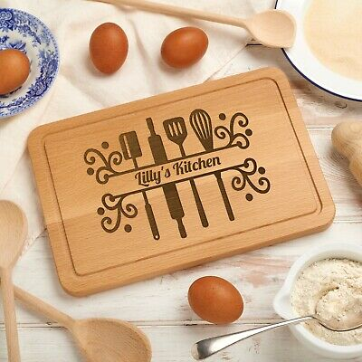 Personalised Kitchen Utensil Design Wooden Chopping / Cutting Board