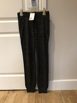 H&M Girls Black Marl Jogging Bottoms. Age 10-11. New Tagged