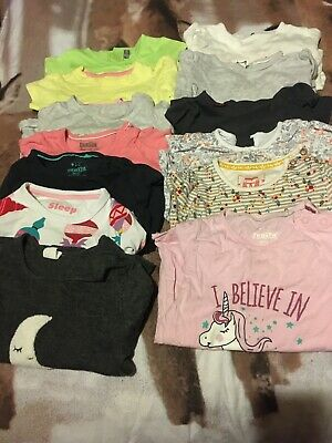 Large Bundle Of Baby Girls Tops, Age 12-18 Months