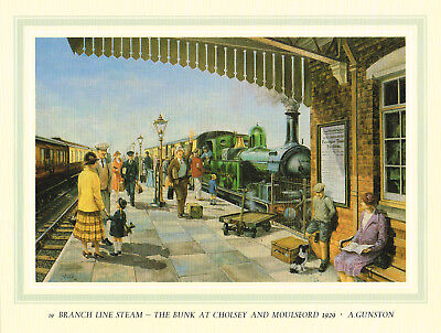 The Bunk At Cholsey & Moulsford Vintage 1985 GWR Great Western Railway Print