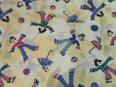 Kids Laura Ashley Vintage Single Duvet Cover +Pillowcase Harlequin Clowns Yellow