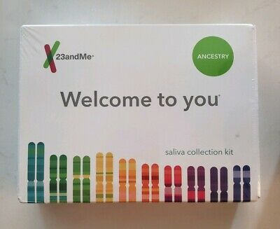 23andMe Genetic Ancestry Saliva Collection Kit - New In Plastic