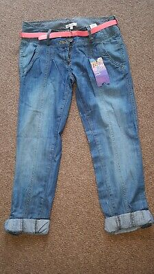 Girls summer crop jeans trousers.  Age 13.  Marks & spencer.