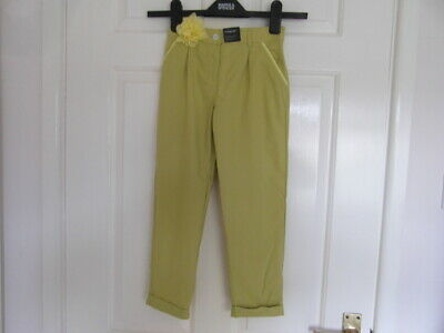 M&S (Autograph) nwt a size 5/6 years and Lime in colour Trousers