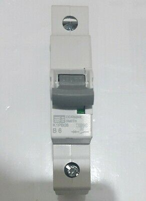 Dorman Smith Electric K1PB06 Single Pole MCB 6A Amp Type B 10kA Circuit Breaker
