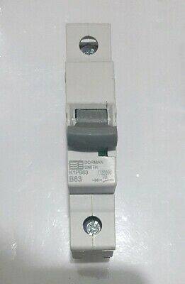 Dorman Smith Electric K1PB63 Single Pole MCB 63A Amp Type B 10kA Circuit Breaker