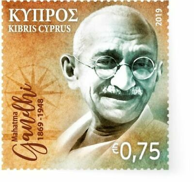 Cyprus Stamps 2019 - 150th birth anniversary of Mahatma Gandhi - MNH