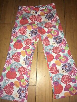 Girls Amazing Multi Colours floral trousers Age 7-8 years