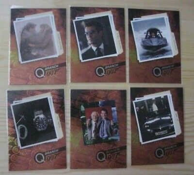 Inkworks James Bond 007 The World Is Not Enough 6 Card Chase Set Mint