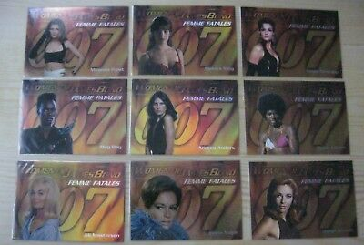 Rittenhouse Women Of James Bond Complete Set Of 9 Foil Chase Cards F1 - F9 Mint