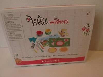 American Girl Wellie Wishers Tea for Two Party Set NWT