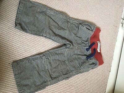 Mini Boden Grey Stripe Boy/Girl Trousers, Age 2 Years, Immaculate Condition