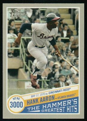 2019 Topps Heritage High  Number Hank Aaron The Hammer's Greatest Hits Thgh-15