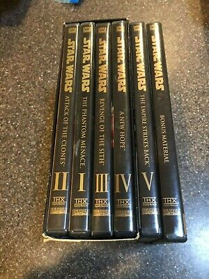 Star Wars Saga Movie Episodes 1-5 DVD Set Collection Plus Bonus Content