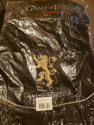 Game Of Thrones House Lannister Black Cinch Bag 15×19 Brand New