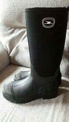 Black Neoprene And Rubber Wellingtons Muck Boots 8 / 42 Fishing Yard Wellies