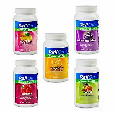 ReliOn Glucose Tablets Variety of Flavors to Choose 50 Tablets