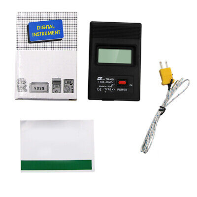 TM-902c Type Lcd Digital Thermometer Temperature Meter -50°C To 1300°C with W9W9