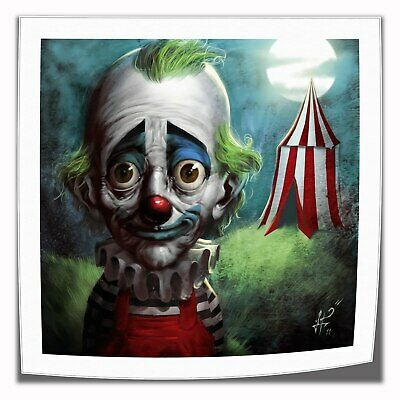 "16""x16""Sad Clown Poster Painting Print on Canva Home Decor Room Wall Art Picture"
