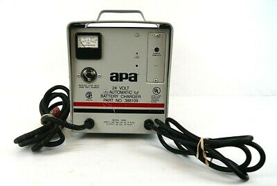 APA (Advance) 24 Volt Automatic Battery Charger Model 16060 Part 388109 Used