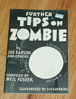 Further Tips on Zombie (Neil Foster editor, Abbotts, 1970's)   --TMGS Book-MANIA