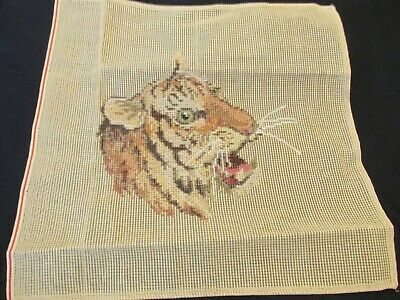 """Trammed Tapestry """"Tiger"""" With Wools 36Cm X 36Cm"""