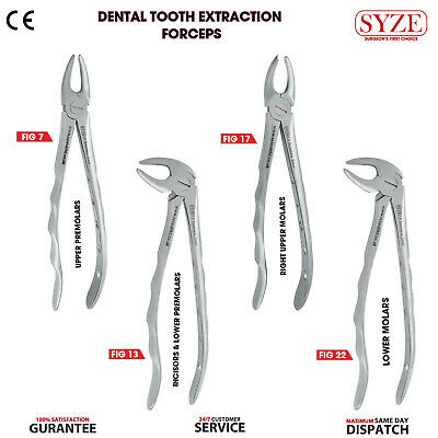Dental Tooth Extraction Upper and Lower Premolars Extracting Forceps Pliers SYZE