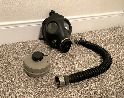 Brand New Rubber Israeli Gas Mask w/ Filter & Demask Hose, Fetish, BDSM, Kinky!