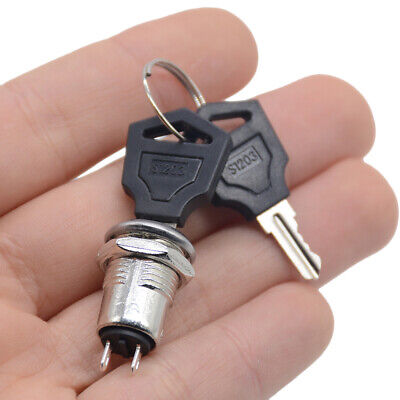 12mm Zinc Alloy Electronic Key Switch ON OFF Lock Switch Phone Lock Security Pow