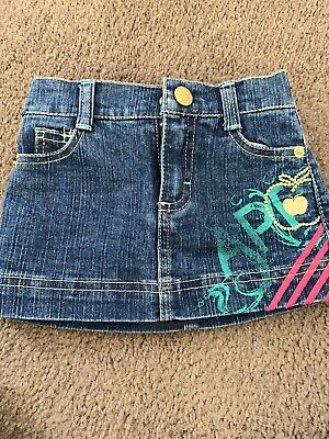 Apple Bottom Denim Skirt, Size 12months