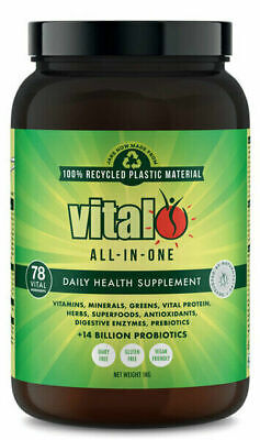 Vital Greens All In One 1Kg Tub Superfood Blend Nutrient Supplement Protein