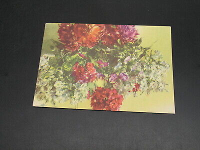 Russia 1957 flowers mint picture postal card *6483