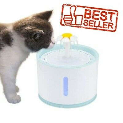 2.4L Led Fountain Water Automatic Little Pet Cat Dog Drinking Electric Dispenser