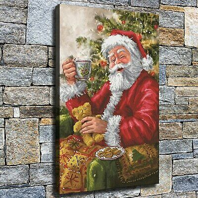 """12""""x18""""Happy Santa HD canvas photo Home decor Wall Art painting pictures photos"""
