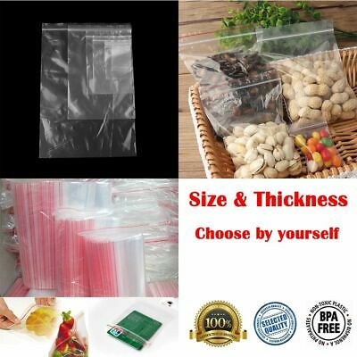 Sundries Storages Clear Waterproof Grip Seal Zipper Bags Zip Lock Reclosable