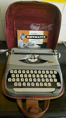 Royal  Vintage Portable Typewrite (not working for parts)