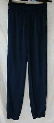 Boys Adidas Dark Blue Sheen Cuffed Tracksuit Bottoms Trousers Age 11-12 Years