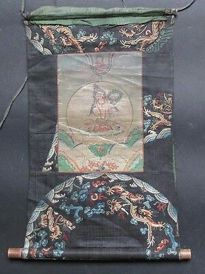Antik Alter Thangka, Tara von Mongolei 19. Jhd. , Stickerei