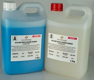 30A Food Grade 1:1 Liquid Silicone Rubber Mould Mix - 5KG