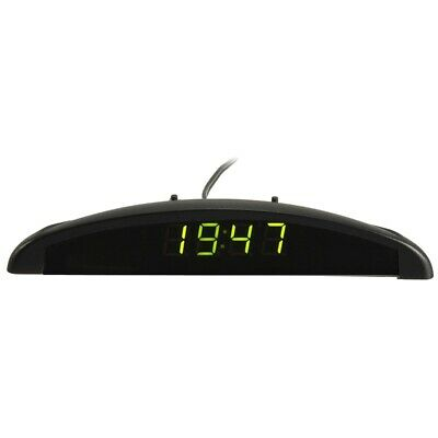 3 In1 Car 12V Digital LED Voltmeter Voltage Temperature Clock Thermometer C T6K7