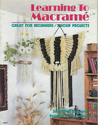Learning to Macrame for Beginners Patterns Owl, Plant Hanger Craft Book MM301