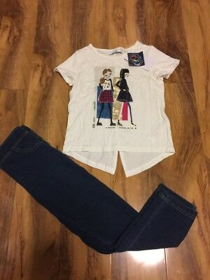 BNWT M & S Kids Girls Top And Legging 7 Years Old