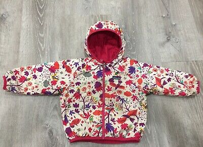 Patagonia Toddler Girl's Reversible Puff-Ball Jacket 3t Woodland / Berry NICE